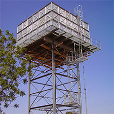 Elevated steel water tank